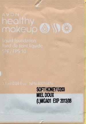 Avons Healthy Makeup Liquid Foundation Sample-Ivory!