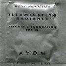 Avon Illuminating Radiance Foundation Sample SPF 12-Blush Beige!