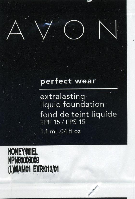 Avon Perfect Wear Extra Lasting Foundation Sample SPF 15-Bronze!