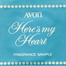 Avon Fragrance Sample-Here's My Heart!