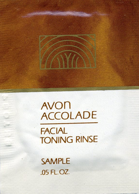 Avon Sample-Accolade Facial Toning Rinse!