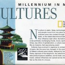 National Geographic August 1999- Millennium In Maps Cultures