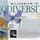 National Geographic Millennium In Maps Biodiversity-February 1999