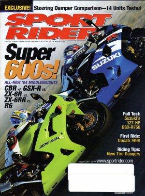 Sport Rider August 2004-Super 600's!