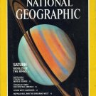 National Geographic July 1981 Saturn Riddles Of The Rings + *Double Map Supplement