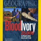 National Geographic October 2012 Blood Ivory -25,000 Elephants Were Killed Last