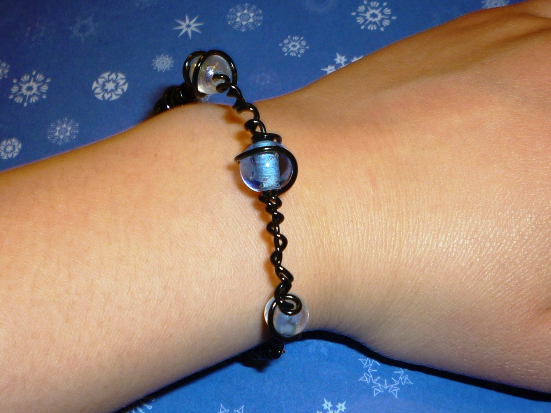 Glass Beads Spiral bracelet