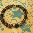 Purple Spiral w Glass Beads bracelet