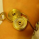 Golden Double-Spiral bracelet