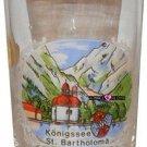 Koenigssee St Bartholoma Jigger Shot Glass Schnapps Glasses