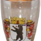 Europe Berlin Germany Bear Shot Glass Schnapps Glasses