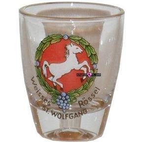 St Wolfgang Roessel Jigger Shot Glass Schnapps Glasses