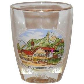 Europe Oberammergau Germany Shot Glass Schnapps Glasses