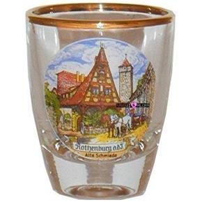 Europe Rothenburg Jigger Shot Glass Schnapps Glasses