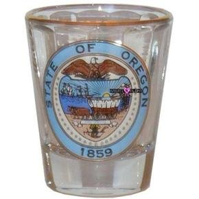 State of Oregon Shot Glass Schnapps Glasses