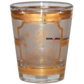 Las Vegas Show Girl Gold Shot Glass Schnapps Glasses