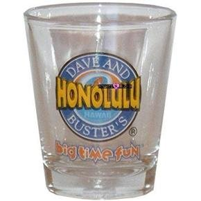 DG Dave and Buster's Hawaii Shot Glass Schnapps Glasses