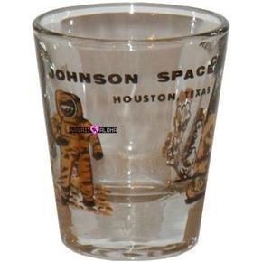 Johnson Space Center Houston Shot Glass Schnapps Glasses
