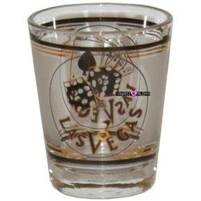 Las Vegas Dice Cards Shot Glass Schnapps Glasses