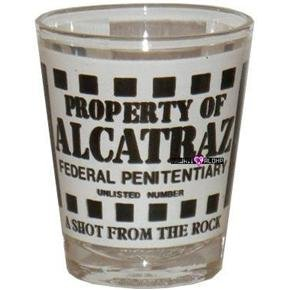 Alcatraz Federal Penitentiary Shot Glass Schnapps Glasses