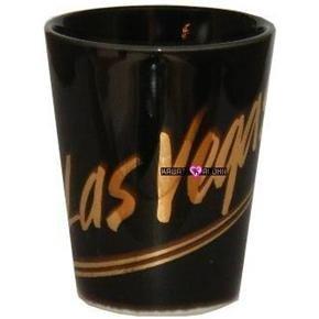 Las Vegas Black Gold Shot Glass Schnapps Glasses