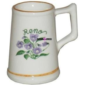 Reno Flowers Beer Shot Glass Mug Schnapps Glasses