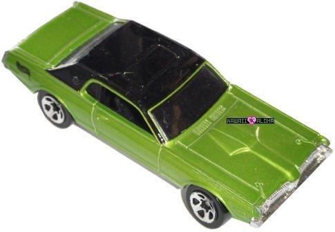 Hot Wheels Diecast 68 Cougar Lime Green Muscle Car 2001