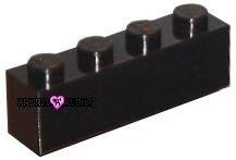 Lego Brick 1 x 4 Black #3010