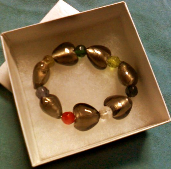 Smokey Topaz Heart Bracelet