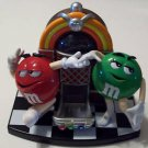 Collectible OLD M&M CANDY DISPENSER GREEN RED DANCING JUKEBOX