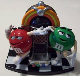 Collectible Old M Amp M Candy Dispenser Green Red Dancing Jukebox