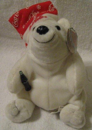 1998 COCA COLA POLAR BEAR BEAN BAG PLUSH