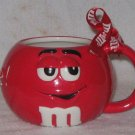 USED EXCELLENT CONDITION BEAUTIFUL Large Red M&M  Mug  ~