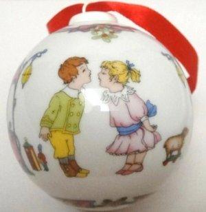 Hutschenreuther Ornaments Under the Mistletoe Porcelain 2002