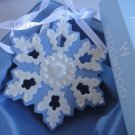 WEDGWOOD BLUE/WHITE PORCELAIN SNOWFLAKE ORNAMENT 2007