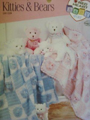 L@@K!* KITTIES & BEARS* BABY BLANKETS- CROCHET PATTERNS