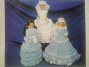L@@K! *FASHION DOLL ENSEMBLES* - NEW CROCHET PATTERNS