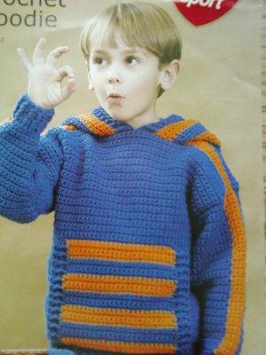 L@@K!*CHILDS SPORTS CROCHET HOODIE*-NEW CROCHET PATTERN