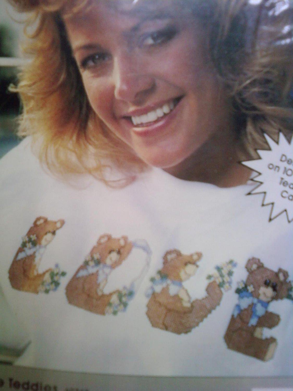 L@@K! *LOVE TEDDIES* - NEW WEARABLES CROSS-STITCH KIT