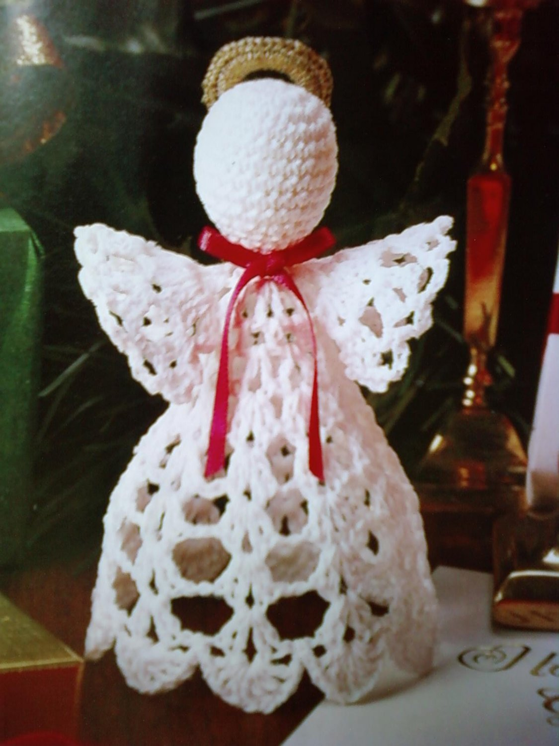 L@@K!  LOVELY *CHRISTMAS ANGEL* - NEW CROCHET PATTERN