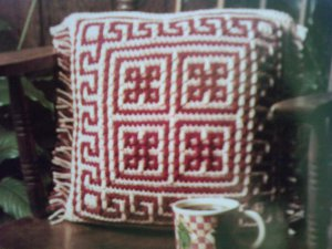 L@@K! *TERRA COTTA PILLOW* - NEW CROCHET PATTERN