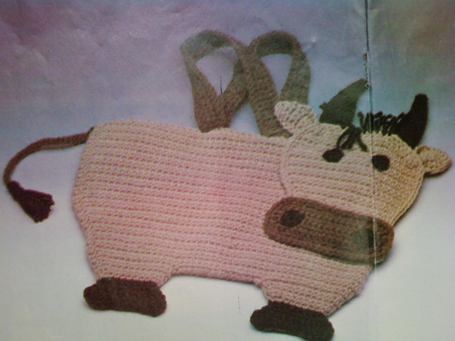 L@@K! CHARMING * COW TOTE * - NEW CROCHET PATTERN
