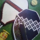 L@@K! *TWO TENNIS RACKET COVERS* - NEW CROCHET PATTERNS