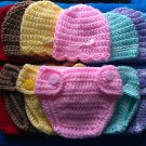 "L@@K! LOVELY ""2 PC- CROCHET HAT & DIAPER COVER SETS"" FOR NEWBORN & REBORN BABIES"
