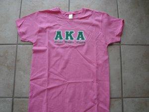 AKA v-neck applique shirt