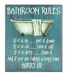 Wall Plaque Bedroom Rules CHWP06