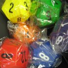 Set of 6 12 Sided Dice Foam 10 inch Ball Toy