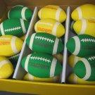 24 pcs Toy Yellow Stress Footballs Foam Cheesehead gift