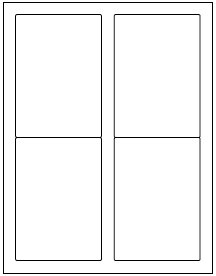 """(1,000 labels) 3.5"""" x 5"""" blank shipping mailing sticker printable paper white matte"""