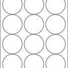 "Round 2.5"" Labels white matte craft circle envelope sticker blank seal holiday"
